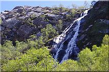 NN1868 : An Steall waterfall by Ian Taylor
