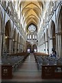 SW8244 : Looking the length of the Nave, Truro Cathedral by Derek Voller