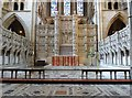 SW8244 : The famous carved bath stone reredos, Truro Cathedral by Derek Voller
