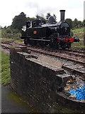 SO2508 : Webb Coal Tank 1054 behind a brick wall, Blaenavon by Jaggery