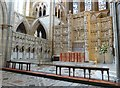 SW8244 : The High Altar and the beautifully carved stone reredos,Truro Cathedral by Derek Voller
