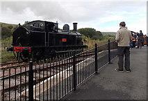 SO2508 : Webb Coal Tank 1054 passes Blaenavon (High Level) station in September 2013 by Jaggery