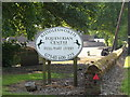 TL9582 : Riddlesworth Equestrian Centre sign by Adrian Cable