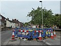 SJ7950 : Audley: National Grid streetworks on Wereton Road by Jonathan Hutchins