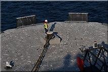 HU4642 : Docker awaiting instructions, Holmsgarth, Lerwick by Mike Pennington