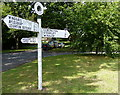 SP8420 : Signpost on the Green, Aston Abbotts by Mat Fascione