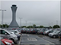 NT1473 : Edinburgh Airport Control Tower by Russel Wills