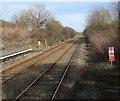 SS5599 : Heart of Wales Line from Bynea towards Llangennech by Jaggery