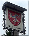 SJ7961 : Sign for the Legs of Man public house by JThomas