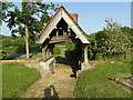 TL9383 : St. Andrew's Church Lych Gate by Adrian Cable