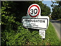 TM1245 : Sproughton Village Name sign on Sproughton Road by Adrian Cable