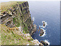 HT9339 : The 1000 ft cliff of Nebbifield by Julian Paren