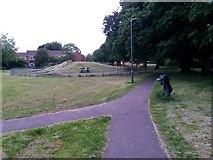 SZ0794 : Ensbury Park: footpath N30 joins footpath N26 by Chris Downer