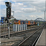 SK3635 : At the south end of Derby Midland Station by John Sutton