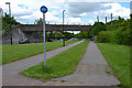 SP3677 : Footpath and cycleway by A4082 Allard Way, Stoke, Coventry by Robin Stott