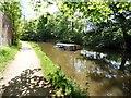 SJ9494 : Sunken narrowboat by Gerald England