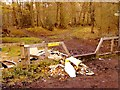 SU9983 : Fly-tipping: Rowley Woods, Wexham Street by Rob Emms