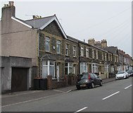ST3288 : Houses on the south side of Christchurch Road, Newport by Jaggery
