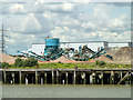 TQ4681 : Aggregate processing plant, Creekmouth, 2011 by Robin Webster