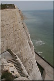 TQ4200 : Steps down the cliff from Peacehaven Heights to Friars' Bay by Chris