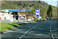 SN9763 : Gulf Filling Station on the A470 at Doldowlod by David Dixon