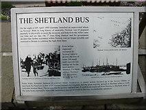 HU4039 : The Shetland Bus, explanatory plaque (1) by David Purchase