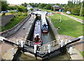 SP8928 : Narrowboats in Soulbury Top Lock No 26 by Mat Fascione