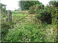 SE0222 : Gate at Kennel lane on the footpath from Shaw's Lane, Sowerby (15) by Humphrey Bolton