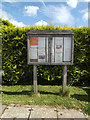 TM0650 : Willisham Village Notice Board on Barking Road by Adrian Cable