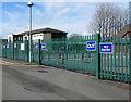 SS5898 : Perimeter fence, Ty Einon Centre, Gorseinon by Jaggery