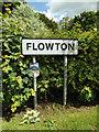 TM0846 : Flowton Village Name sign on Tye Lane by Adrian Cable