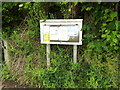 TM0846 : Flowton Village Notice Board by Adrian Cable
