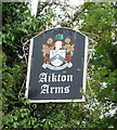 NY2753 : Sign for the Aikton Arms public house by JThomas