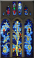 SP9820 : St Giles, Totternhoe - Stained glass window by John Salmon