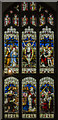 TF8209 : Chancel Stained glass window, Ss Peter & Paul church, Swaffham by Julian P Guffogg