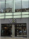 SO8554 : Entrance to M&S by Philip Halling