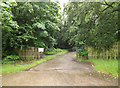 TL9182 : Estate entrance off the A1066 Thetford Road by Adrian Cable