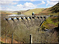 SN8968 : Elan Valley, Craig Goch Dam and Valve Tower by David Dixon