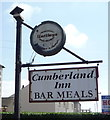 NY1053 : Sign for the Cumberland Inn, West Silloth by JThomas