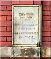 SJ9498 : Foundation stone by Gerald England