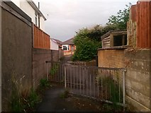 SZ0995 : Moordown: footpath M13 approaches Nursery Road by Chris Downer