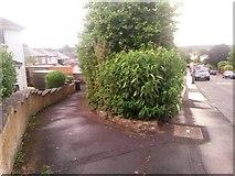 SZ0995 : Moordown: public footpath M14 by Chris Downer