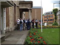 TL1898 : Geographers gather for the guided walk by Geographer