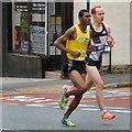 SJ9594 : Hyde 7 Road Race: Mohammad Aburezeq setting the pace by Gerald England