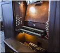 SK9872 : Organ console, St Giles' church, Lincoln by Julian P Guffogg