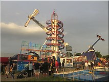 NZ2465 : Rides at the Hoppings funfair, Newcastle upon Tyne by Graham Robson