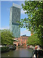 SJ8397 : Canal arm and Beetham Tower, Manchester by Christopher Hilton