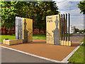 SJ8198 : Entrance to Peel Park, Ducie Gates by David Dixon