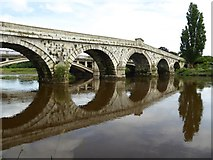 SJ5409 : Atcham Old Bridge by Philip Halling