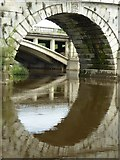 SJ5409 : Arch in Atcham Old Bridge by Philip Halling